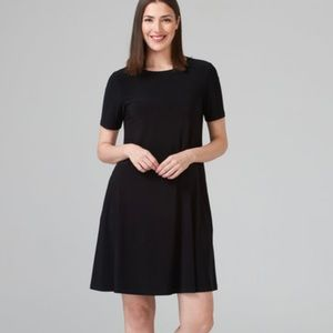 Black Short Sleeve Fit and Flare Dress size 6
